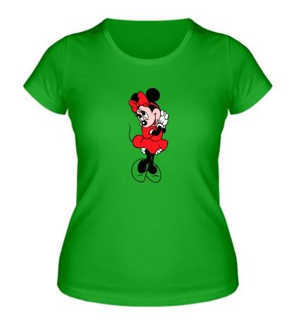 Женская футболка Стесняшка Минни Маус
