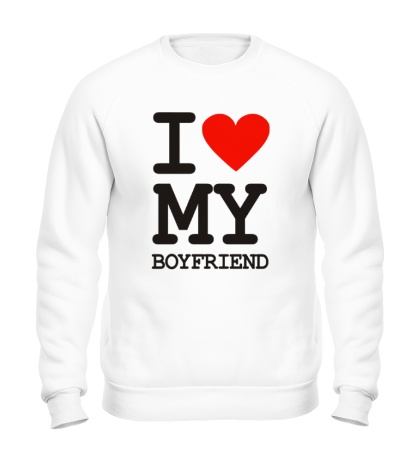 Свитшот I love my boyfriend
