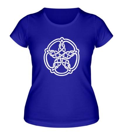 Женская футболка Звезда в стиле кельтских узоров