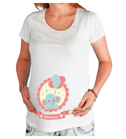 Футболка для беременной Welcome baby