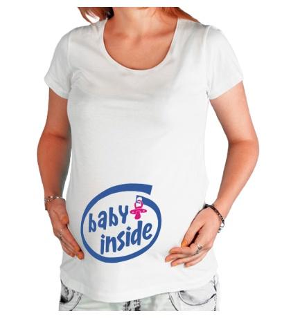 Футболка для беременной Baby Inside
