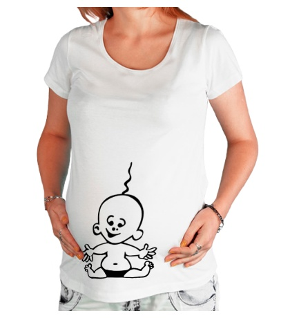 Футболка для беременной Радостный малыш