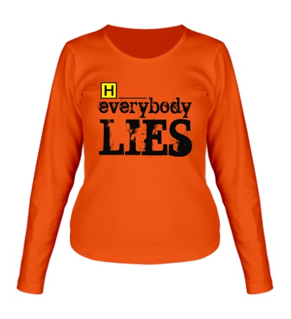 Женский лонгслив Everybody Lies