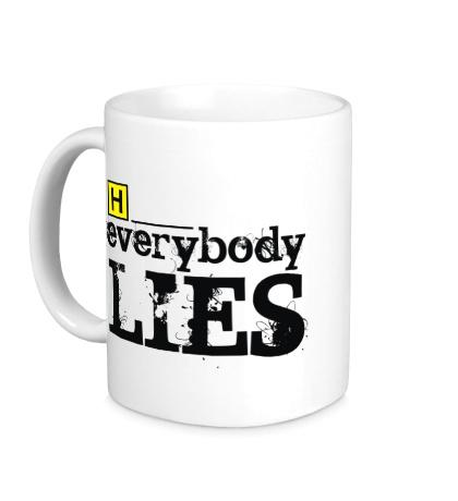 Керамическая кружка Everybody Lies