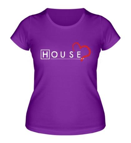 Женская футболка House MD: Love
