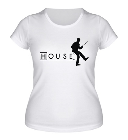 Женская футболка House MD: Dance