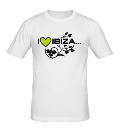 Мужская футболка I Love Ibiza