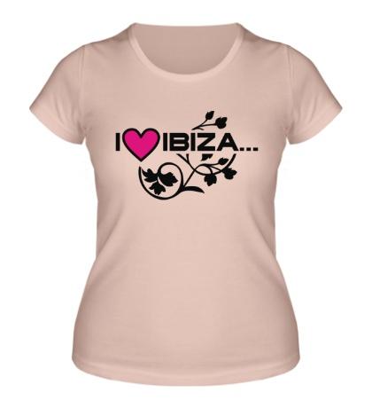 Женская футболка I Love Ibiza