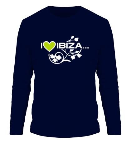Мужской лонгслив I Love Ibiza