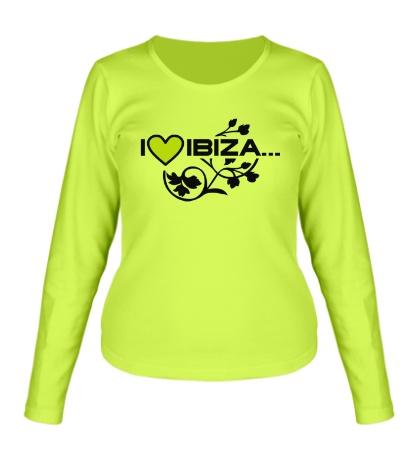Женский лонгслив I Love Ibiza