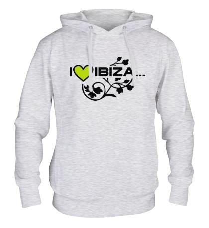 Толстовка с капюшоном I Love Ibiza