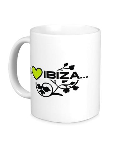 Керамическая кружка I Love Ibiza