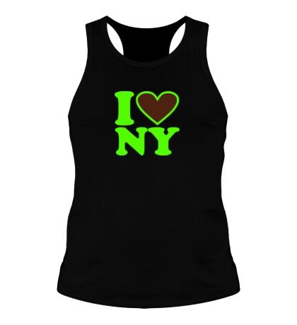 Мужская борцовка I love NY Glow
