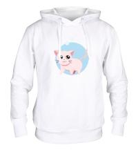 Толстовка с капюшоном Розовая кошка