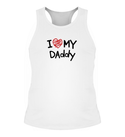 Мужская борцовка I love my Daddy