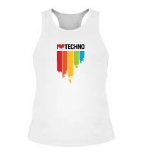 Мужская борцовка I love Techno Colors
