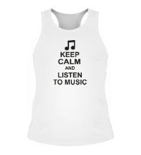 Мужская борцовка Keep calm and listen to music
