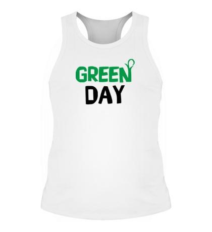 Мужская борцовка Vegan green day