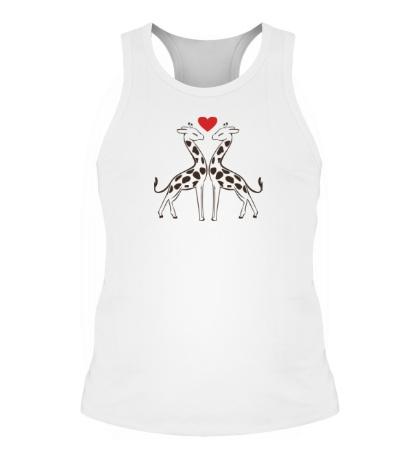 Мужская борцовка Влюбленные жирафы