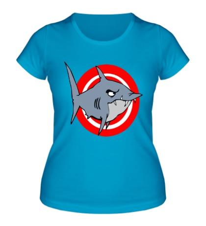 Женская футболка Акула под прицелом