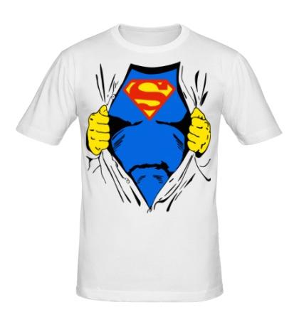 Мужская футболка Костюм супермена