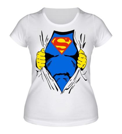 Женская футболка Костюм супермена
