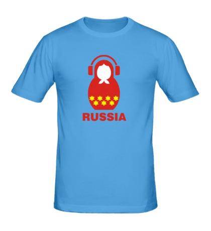 Мужская футболка «Russia dj»