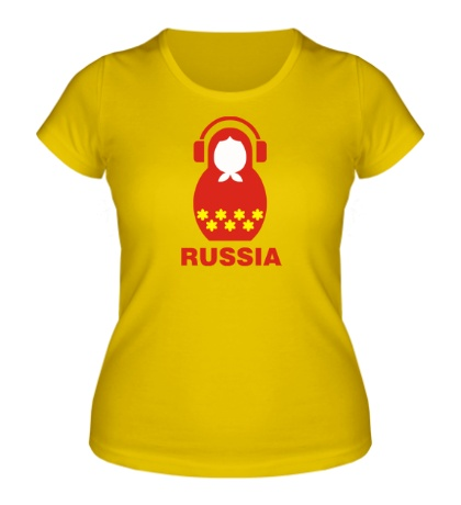 Женская футболка «Russia dj»