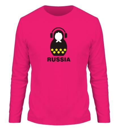 Мужской лонгслив «Russia dj»
