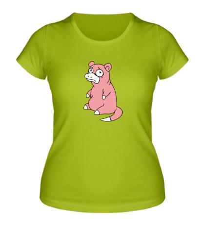 Женская футболка Грустный слоупок