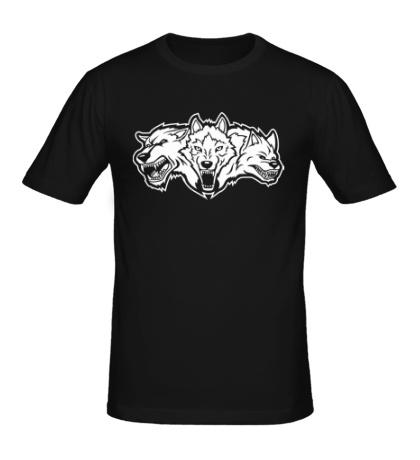 Мужская футболка Разъяренные волки