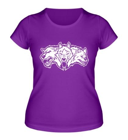 Женская футболка Разъяренные волки