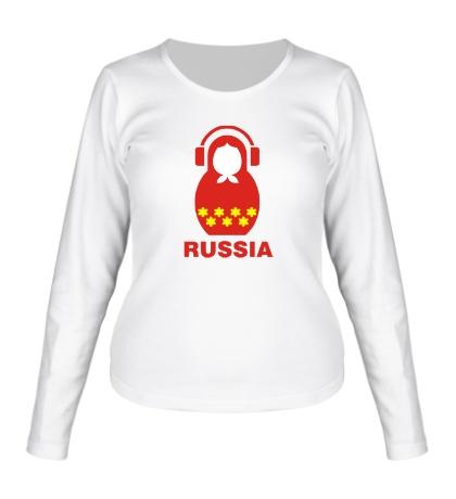 Женский лонгслив «Russia dj»