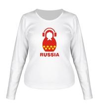 Женский лонгслив Russia dj