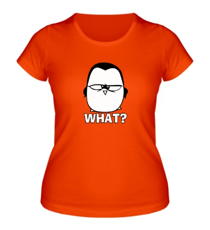 Женская футболка What penguin?