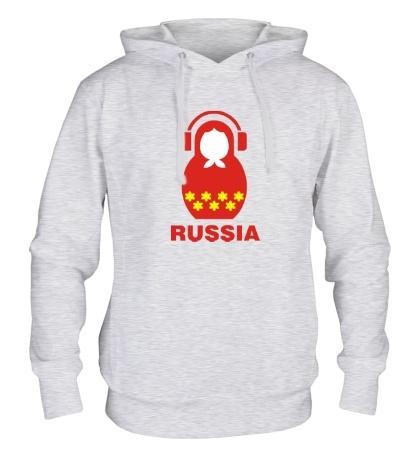 Толстовка с капюшоном «Russia dj»