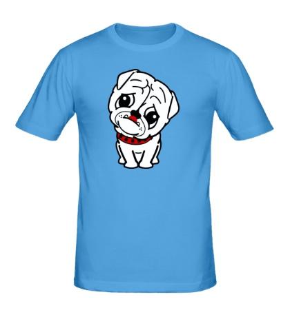 Мужская футболка Маленький мопс
