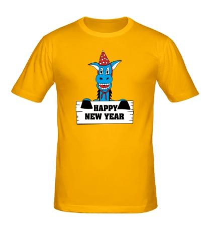 Мужская футболка Horse: Happy New Year