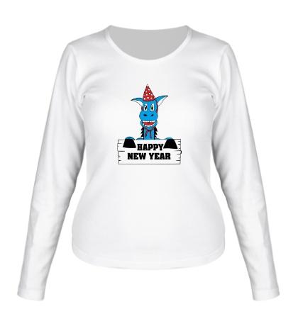 Женский лонгслив Horse: Happy New Year