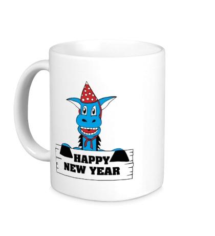Керамическая кружка Horse: Happy New Year