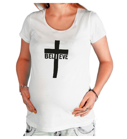 Футболка для беременной Believe
