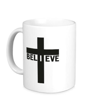 Керамическая кружка Believe