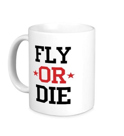 Керамическая кружка Fly or Die Stars