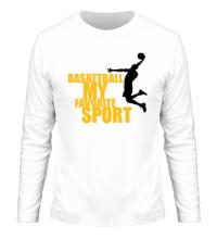 Мужской лонгслив Basketball my favorite sport
