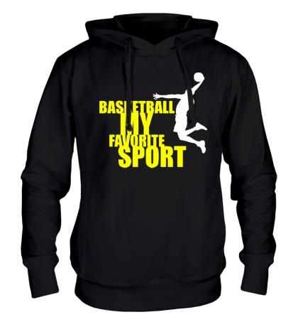 Толстовка с капюшоном Basketball my favorite sport