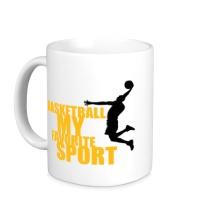 Керамическая кружка Basketball my favorite sport