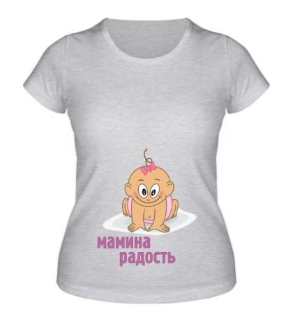 Женская футболка Мамина радость