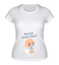 Женская футболка Ждем мальчика!