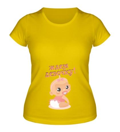 Женская футболка Ждем девочку!
