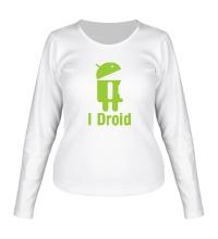 Женский лонгслив I Droid